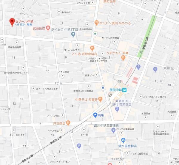 セザール中延map